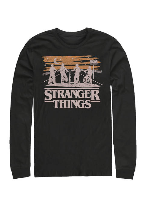 Jank Drawing Long Sleeve Crew Neck Graphic T-Shirt