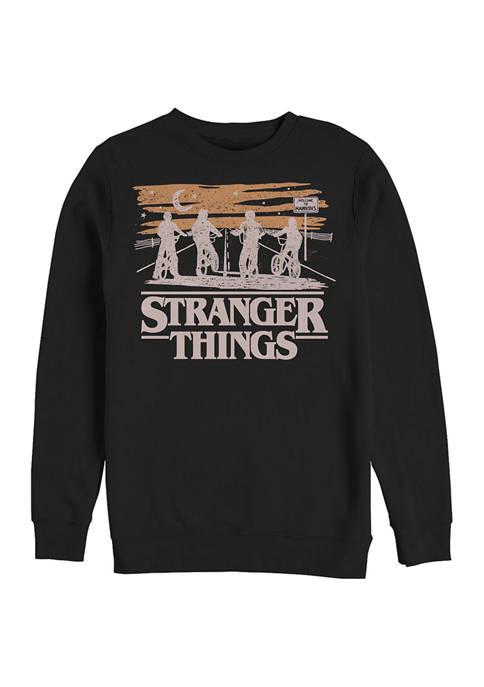Jank Drawing Crew Fleece Graphic Sweatshirt