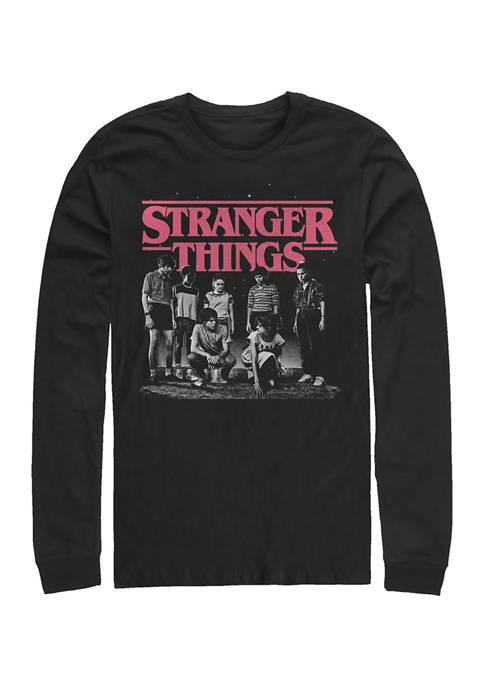 Stranger Fade Long Sleeve Crew Neck Graphic T-Shirt