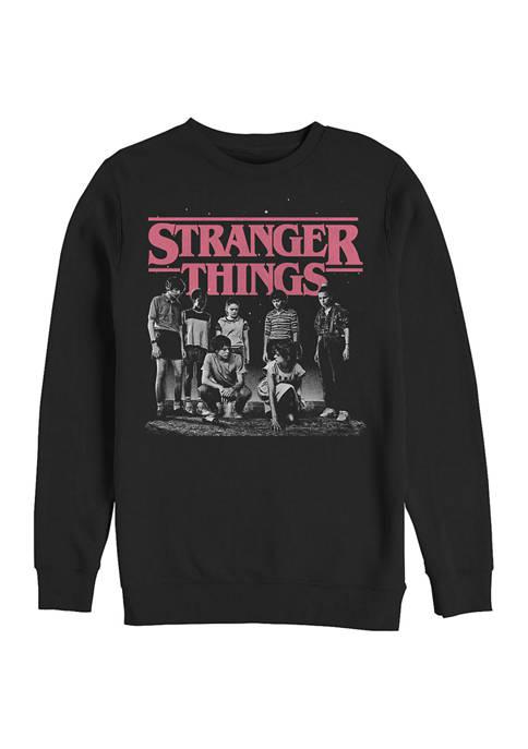 Fade Crew Neck Fleece Graphic Sweatshirt