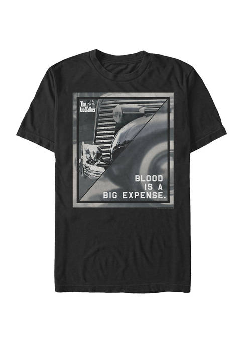 Big & Tall Blood Is A Big Expense Poster Short Sleeve Graphic T-Shirt