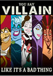 Big & Tall Disney® Villains Like Bad Graphic Short Sleeve T-Shirt