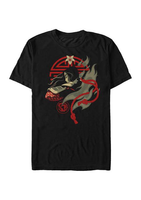 Mulan FIghting Spirit Short Sleeve T-Shirt