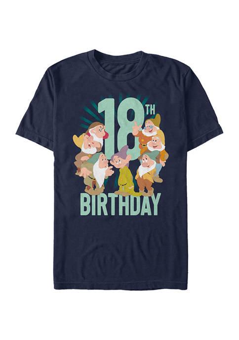 Disney® Dwarves Eighteenth Bday Graphic Short Sleeve T-Shirt