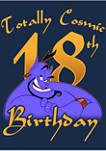 Genie Birthday 18 Graphic Short Sleeve T-Shirt