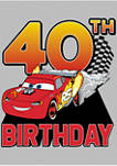 Lightning Birthday 40 Graphic Short Sleeve T-Shirt