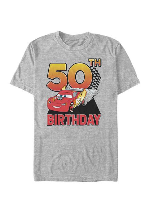 Disney® Lightning Birthday 50 Graphic Short Sleeve T-Shirt