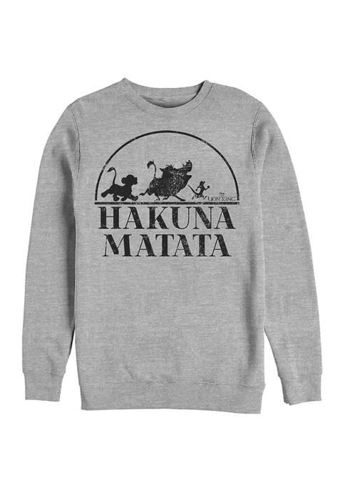 Lion King Hakuna Serif Crew Fleece Graphic Sweatshirt