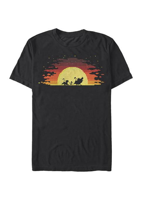 Disney® Pixelated Sunset Short Sleeve T-Shirt