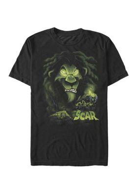 Disney Villains Mens The Darkness Of Scar Short Sleeve T-Shirt