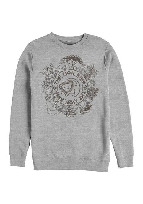 Lion King Circle of Life Crew Fleece Graphic Sweatshirt