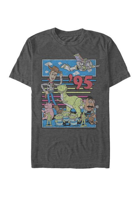 Big & Tall Toy Story 95 Retro Distressed Short Sleeve Graphic T-Shirt