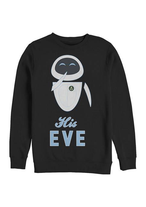 Wall-E His Eve Crew Fleece Graphic Sweatshirt