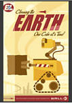 Wall-E Cleaning the Earth Poster Graphic Fleece Hoodie