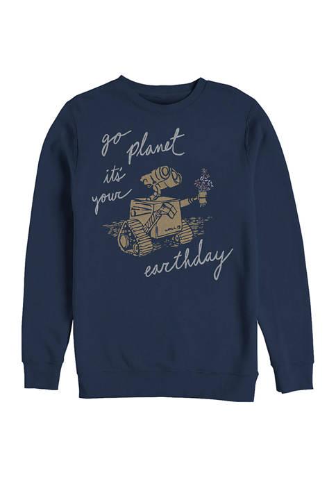 Wall-E Earth Day Redux Crew Fleece Sweatshirt