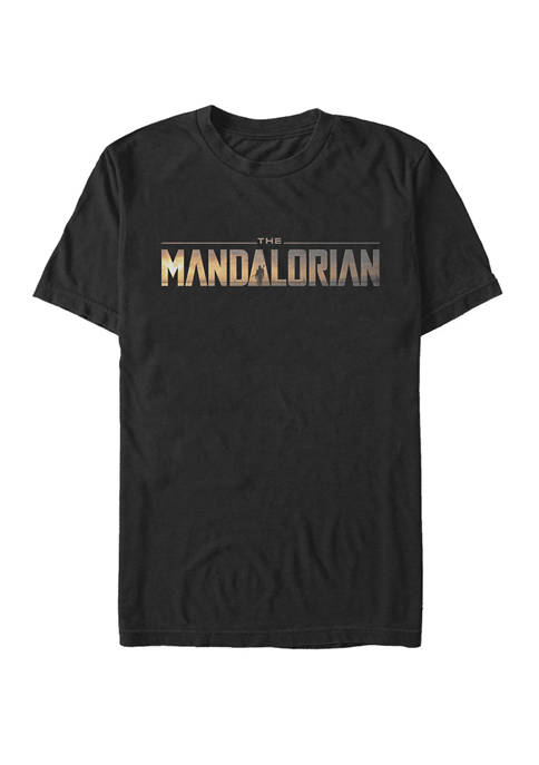 Juniors Mandalorian Logo Graphic T-Shirt