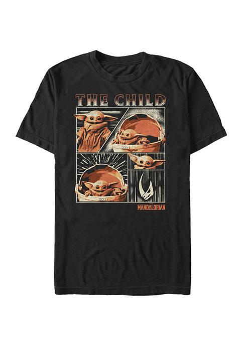 Big & Tall Star Wars The Mandalorian The Child Panel Graphic Short Sleeve T-Shirt