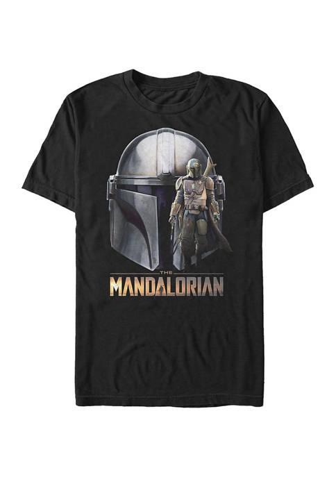 Big & Tall Star Wars® The Mandalorian Mando Head Graphic Short Sleeve T-Shirt