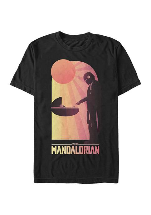 Big & Tall Star Wars The Mandalorian A Warm Meeting Graphic Short Sleeve T-Shirt