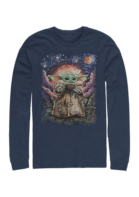 Sipping Starries Long Sleeve Crew Graphic T-Shirt