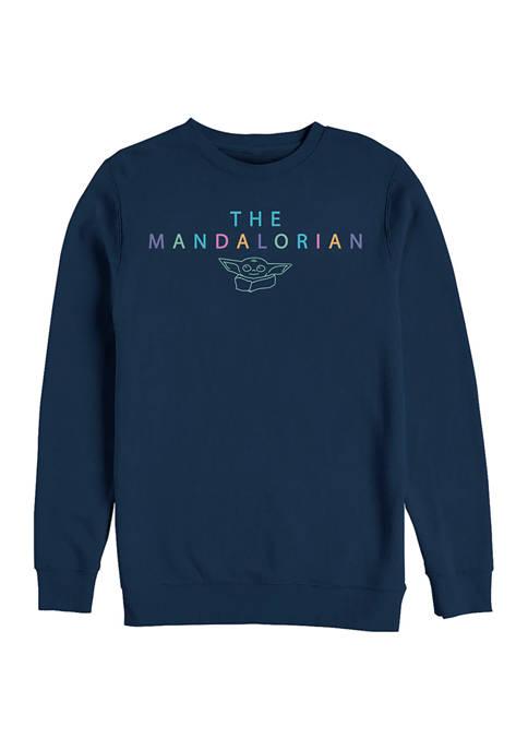Star Wars The Mandalorian Mando Child Crew Fleece