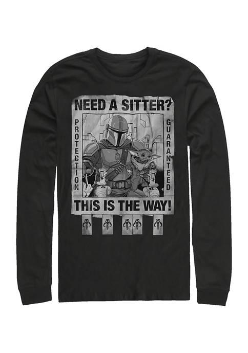 Protection Guaranteed Long Sleeve Crew Graphic T-Shirt
