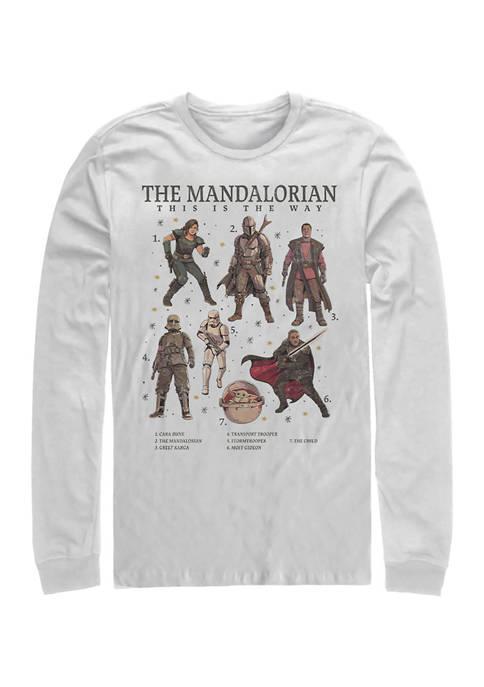 Mando Textbook Long Sleeve Crew Graphic T-Shirt