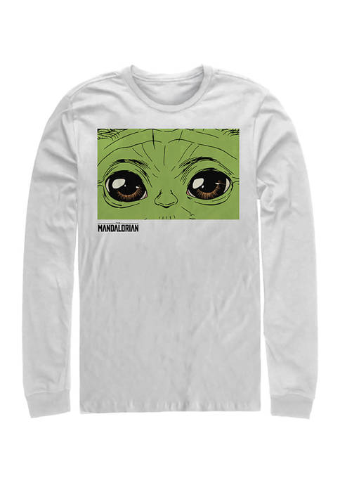 These Eyes Long Sleeve Crew Graphic T-Shirt
