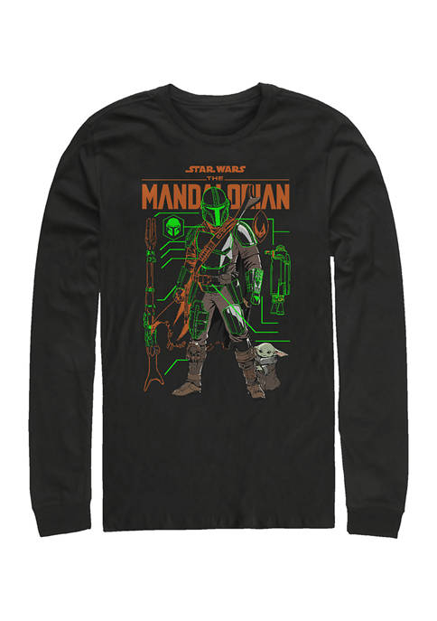 Schemed Up Long Sleeve Crew Graphic T-Shirt