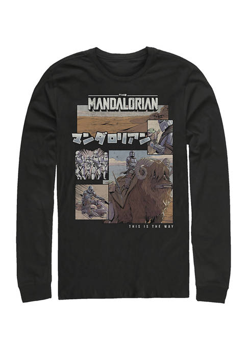 Mando Comic Long Sleeve Crew Graphic T-Shirt