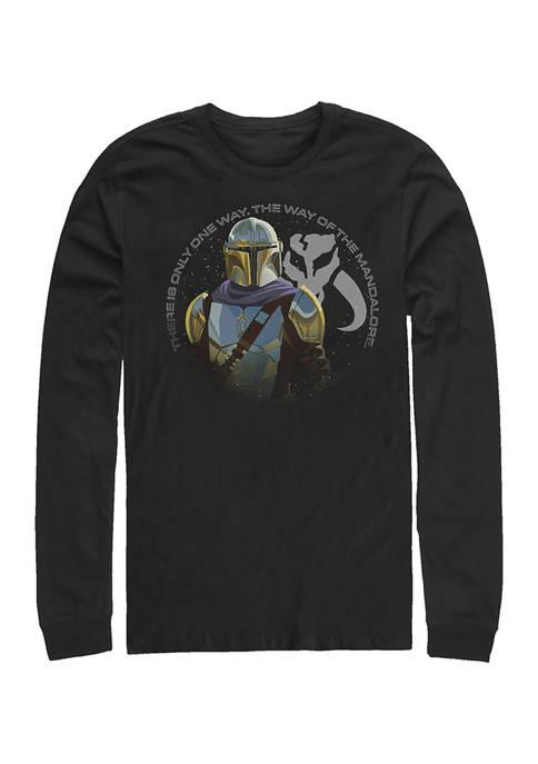 The Mandalore Way Long Sleeve Crew Graphic T-Shirt