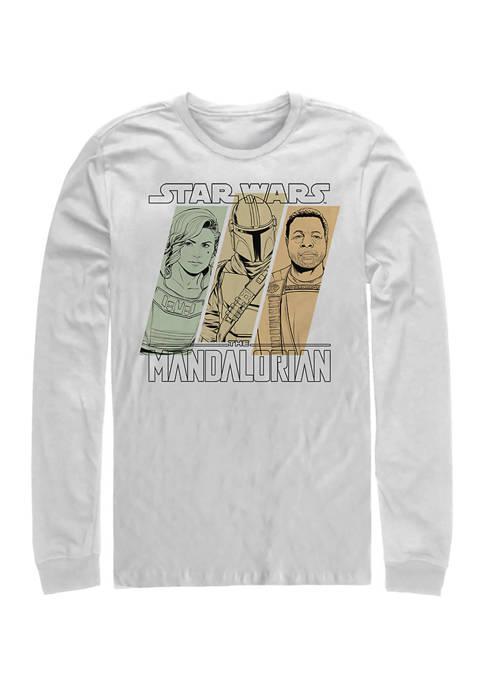 Mando Team Long Sleeve Crew Graphic T-Shirt