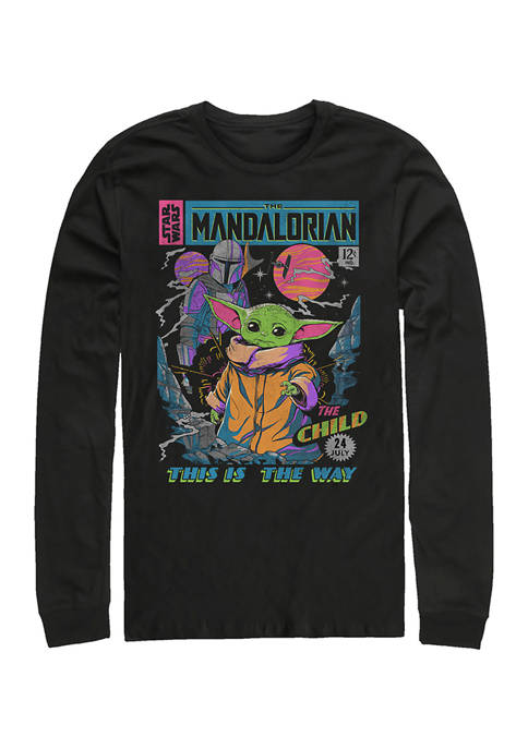 Neon Poster Long Sleeve Crew Graphic T-Shirt