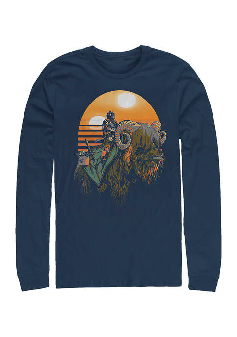 Bantha Riders Long Sleeve Crew Graphic T-Shirt