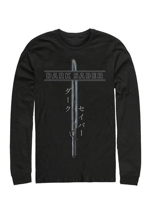 Dark Saber Long Sleeve Crew Graphic T-Shirt