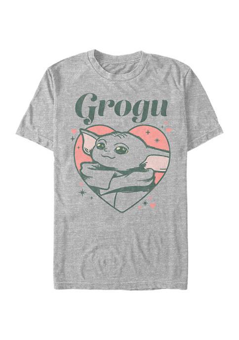Grogu Heart Short Sleeve Graphic T-Shirt