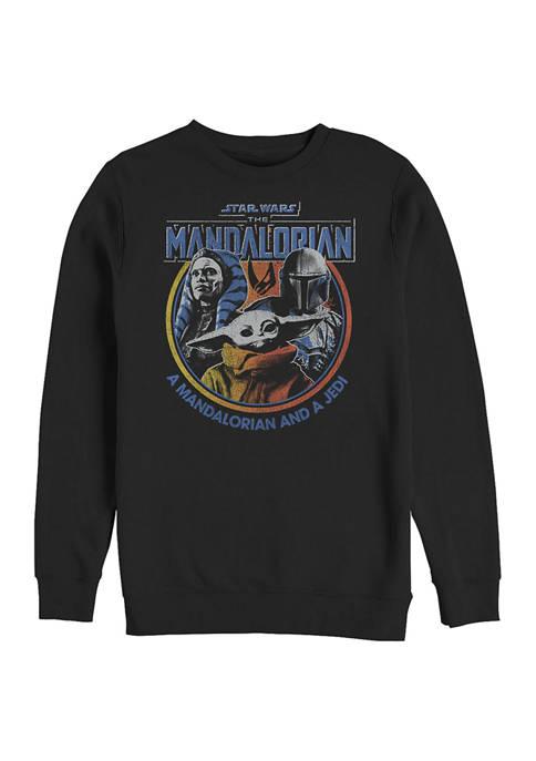 Retro Bright Crew Fleece Graphic Sweatshirt