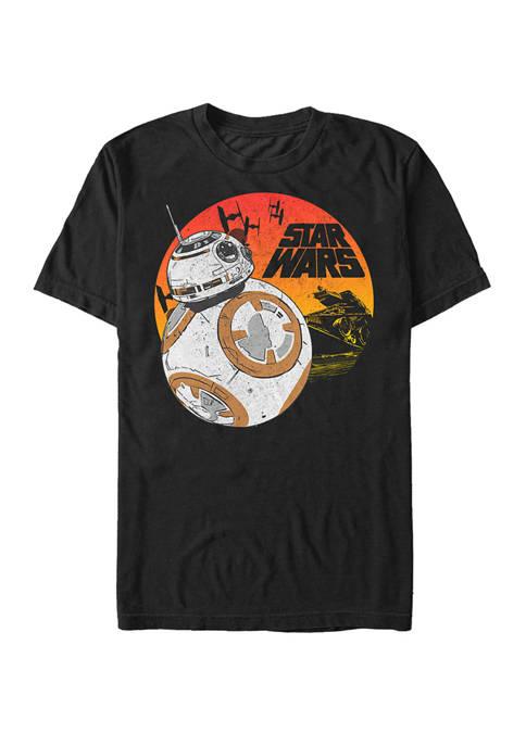 Big & Tall BB-8 Sunset Short Sleeve Graphic T-Shirt