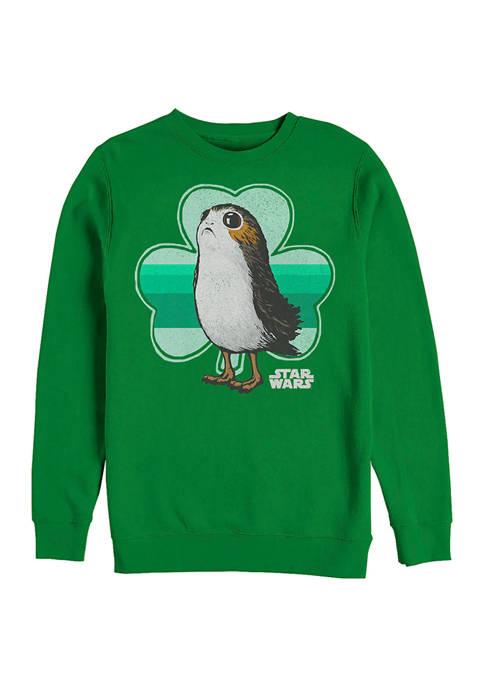Star Wars™ Porg Clover Graphic Crew Fleece Sweatshirt