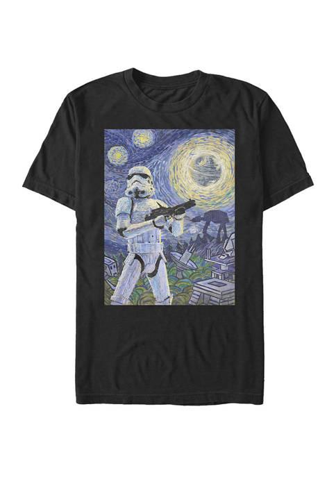 Big & Tall Starry Night Stormtrooper Poster Short Sleeve T-Shirt
