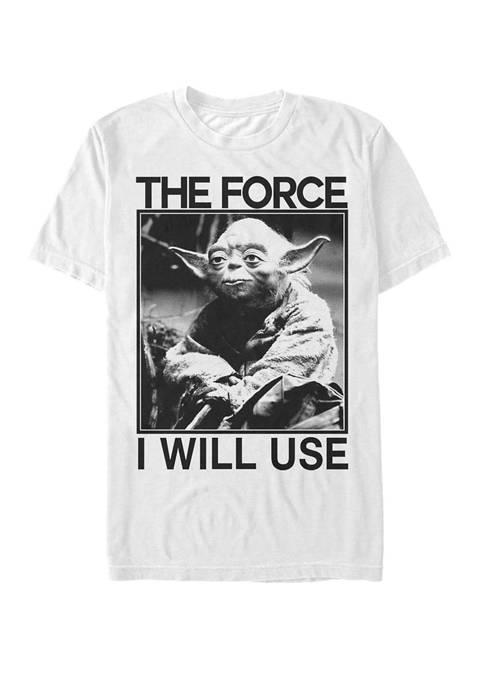 Yoda Photograph Use the Force Short Sleeve T-Shirt