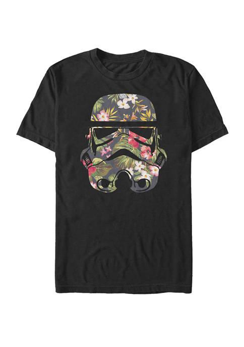 Tropical Stormtrooper Floral Print Short Sleeve T-Shirt