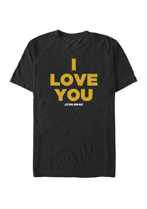 Big & Tall I Love You Quote Short Sleeve T-Shirt