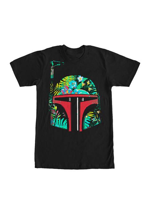 Big & Tall Star Wars Hawaiian Bobba Graphic Short Sleeve T-Shirt