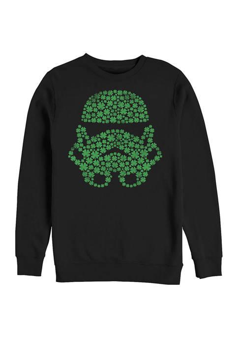 Juniors Cloverfield Graphic Crew Fleece Sweater