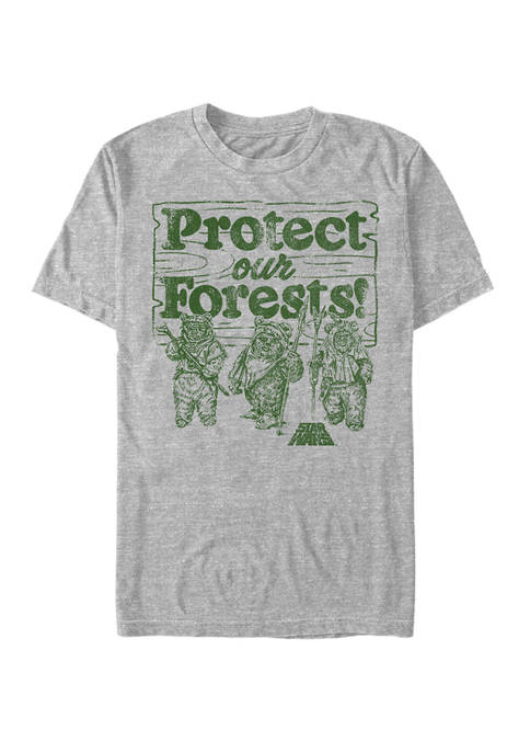 Distressed Protect Our Forest Short-Sleeve Graphic T-Shirt
