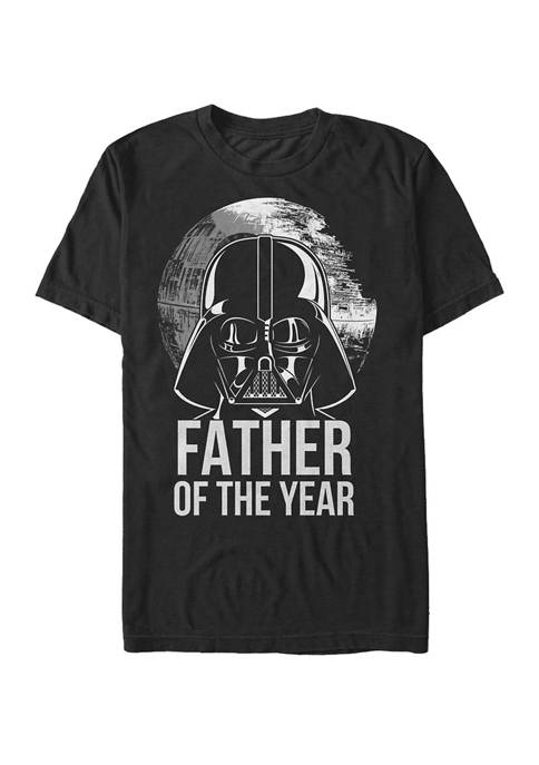 Big & Tall Darth Vader Father Of The Year Short Sleeve Graphic T-Shirt