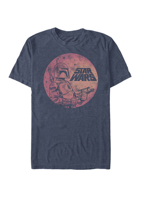 Star Wars® Distressed Boba Fett Galaxy Fill Short