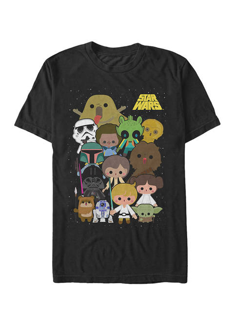 Cute Cartoon Character Group Kawaii Short-Sleeve T-Shirt