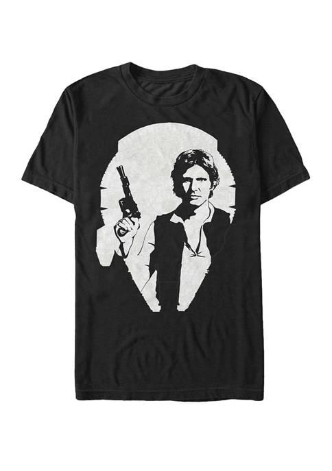 Big & Tall Han Solo Millennium Falcon Portrait Short Sleeve Graphic T-Shirt